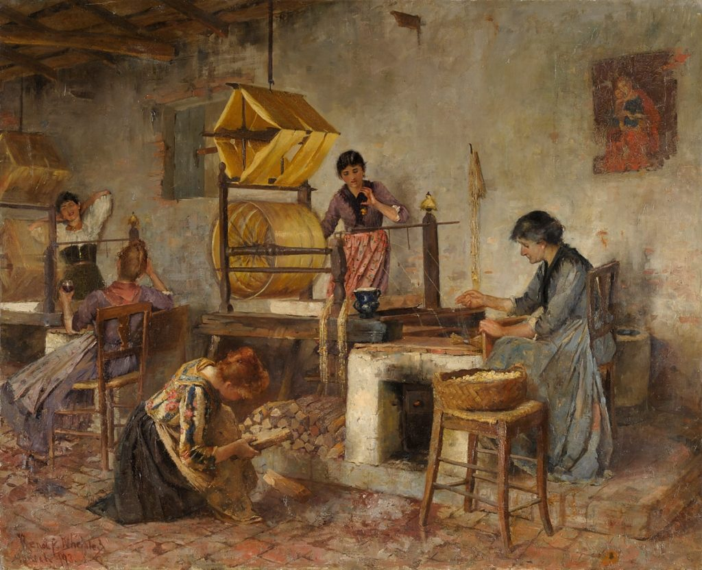 Seide - Gewinnung im 19. Jahrhundert